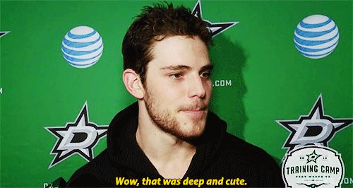 """Tyler Seguin """"wow that was deep and cute"""""""