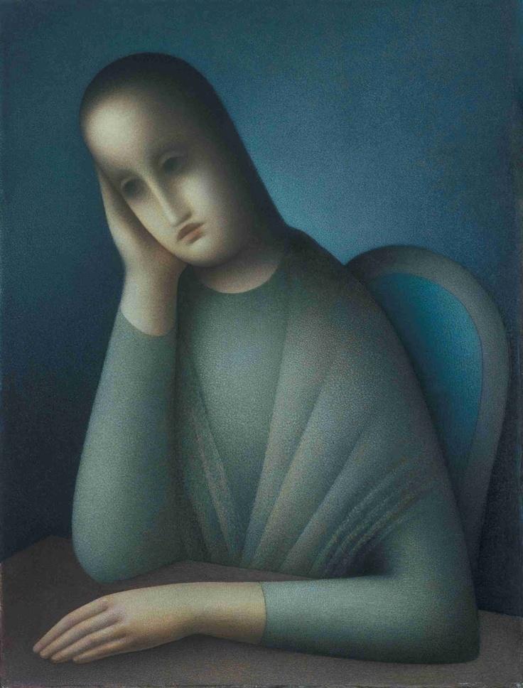 Jan Zrzavy - Sedící dívka / Sitting Girl, 1945