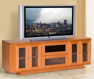 modern 70 inch tv standtv console in light cherry finish