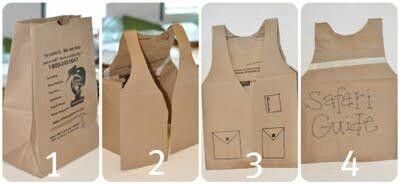 45e561a1b291154d2d55e53b80b6133e.jpg 400×185 pixels. Safari guide vest made from paper sack