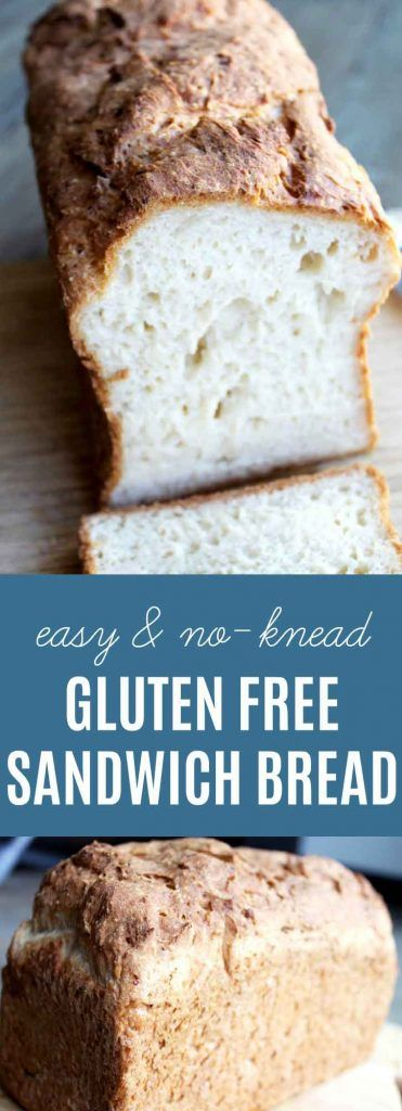 Gluten Free Sandwich Bread:Fall in love with this no-knead, light & fluffy bread. Egg free & dairy free options. The EASIEST & BEST home made gluten free bread recipe!| thenourishedfamily.com