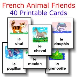 ANIMALS: 40 large cards -- FREE to download  print!
