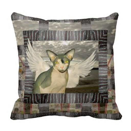 Pillow | Sphynx Cat Angel Collage