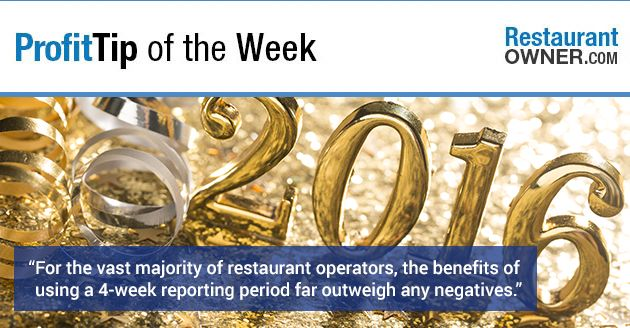 Have you thought about switching to a four week accounting period? http://www.restaurantowner.com/public/Profit-Tip-Is-2016-The-Year-You-Finally-Switch-to-a-4-Week-Accounting-Period.cfm