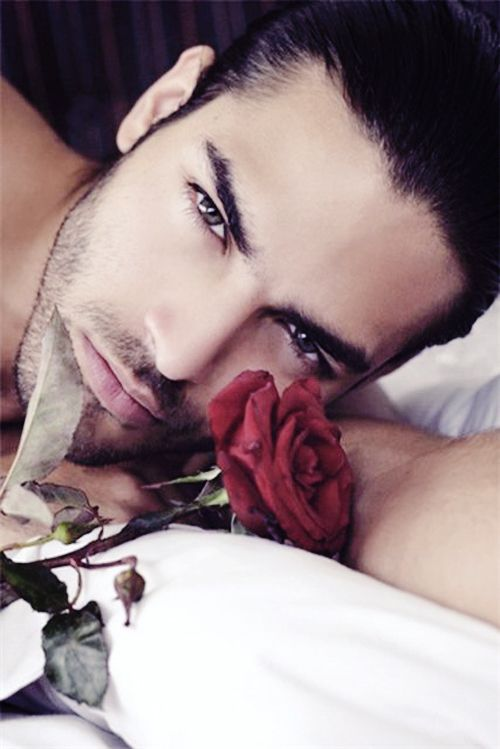 Who wouldn't swoon over this red rose hunk?