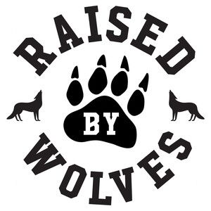 Silhouette Design Store: raised by wolves