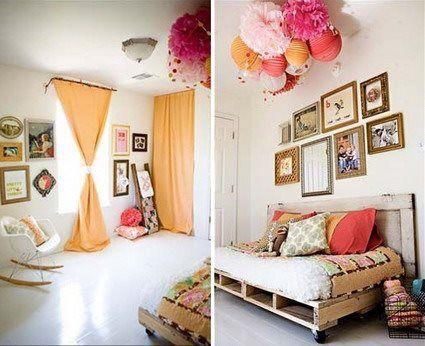 Habitación juvenil con #palets