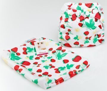 BAMBOOTY REAL NAPPIES EASY DRY STRAWBERRIES LARGE (L)