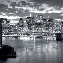 Fototapet - Brooklyn Bridge Cloudy Day