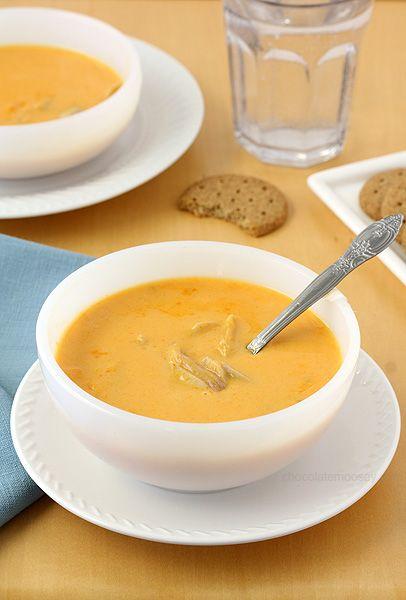 Cheesy Buffalo Chicken Soup, inspired by everyone's favorite buffalo chicken wings.