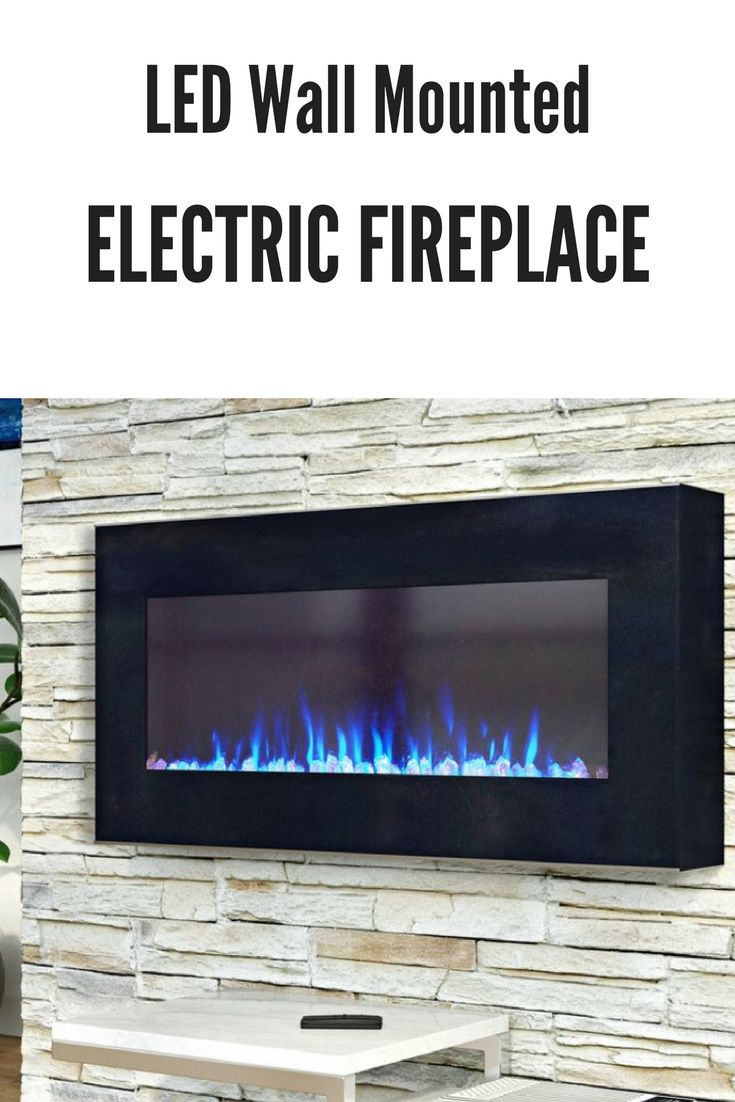 Modern wall mount electric fireplace heater #livingroom #bedroom #basement #homedecor #ad