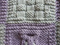 assembler les carrés d'un tricot pour en faire une couverture