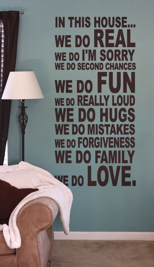 .: Wall Colors, Families Quotes, Wall Art, Wall Decor, Wall Decals, Wall Quotes, Art Company, In This House, Families Rooms