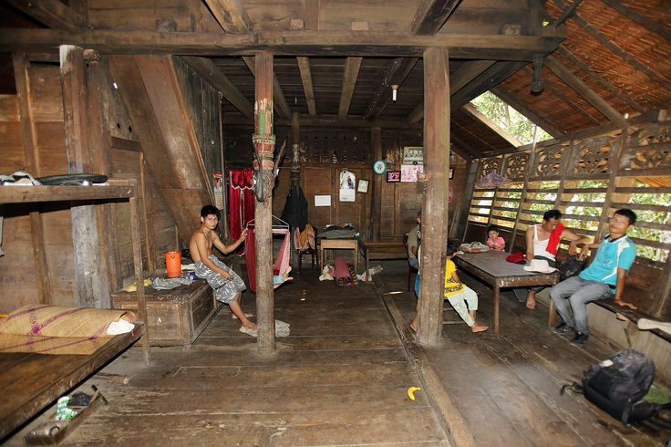 Inside a traditional house in North Nias Regency, Nias Island, Indonesia. Photo by Bjorn Svensson. www.northniastourism.com