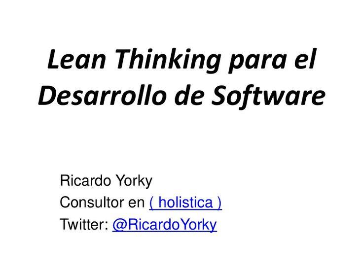 Lean Thinking para el Desarrollo de Software