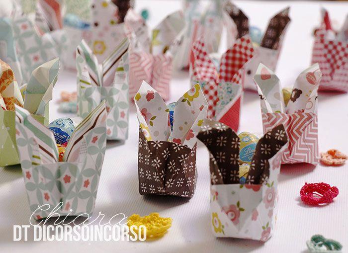 """<input class=""""jpibfi"""" type=""""hidden"""" ><p>Buongiorno a tutti, la Pasqua  si sta avvicinando e questa volta ho pensato di realizzare qualcosa da regalareai compagni di scuola della mia bimba. Si tratta di coniglietti origami , contenenti dei piccoli ovetti. Sono molto semplici da realizzare e anche divertenti ! Il tutorial lo potrete trovare molto …</p>"""