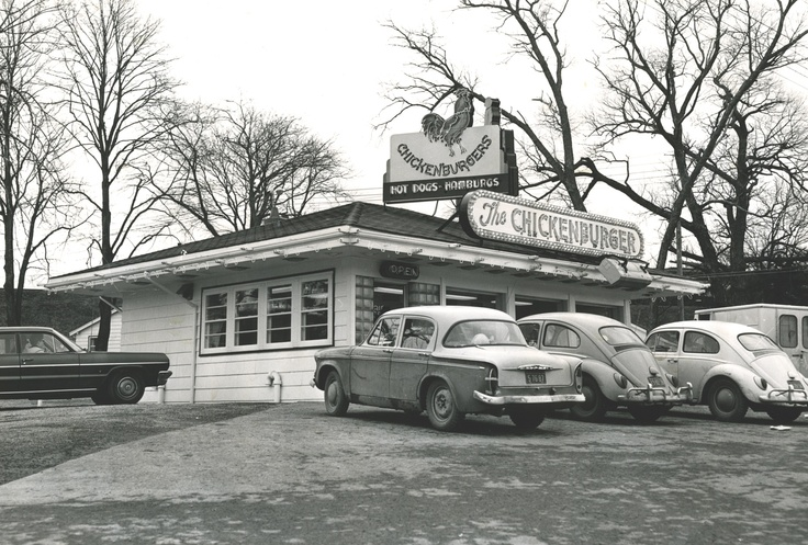 Some VW Bug owners enjoying a bite at the Chick.