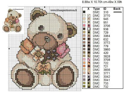 Teddy orsetto orso animali baby punto croce thun
