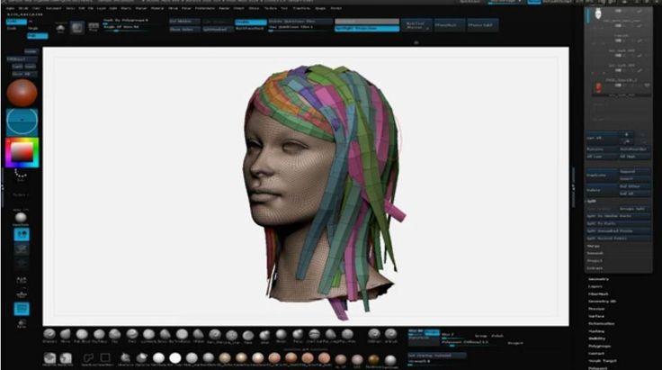 Game Hair Tutorial (Zbrush & Maya)
