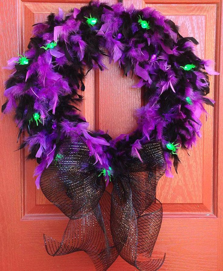 Halloween glam spider wreath tutorial