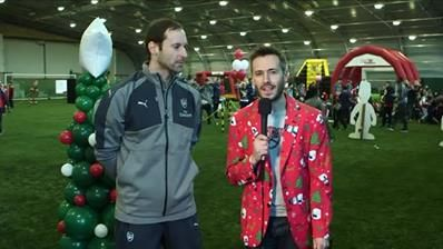 Join us LIVE for the London Colney Christmas cracker challenge with Petr Čech, Hector Bellerin and Rob Holding