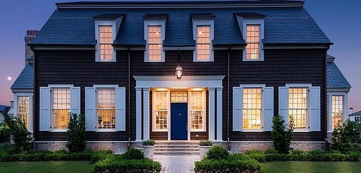 I could live in any house Bobby McAlpine designs ~ colonial by McALPINE
