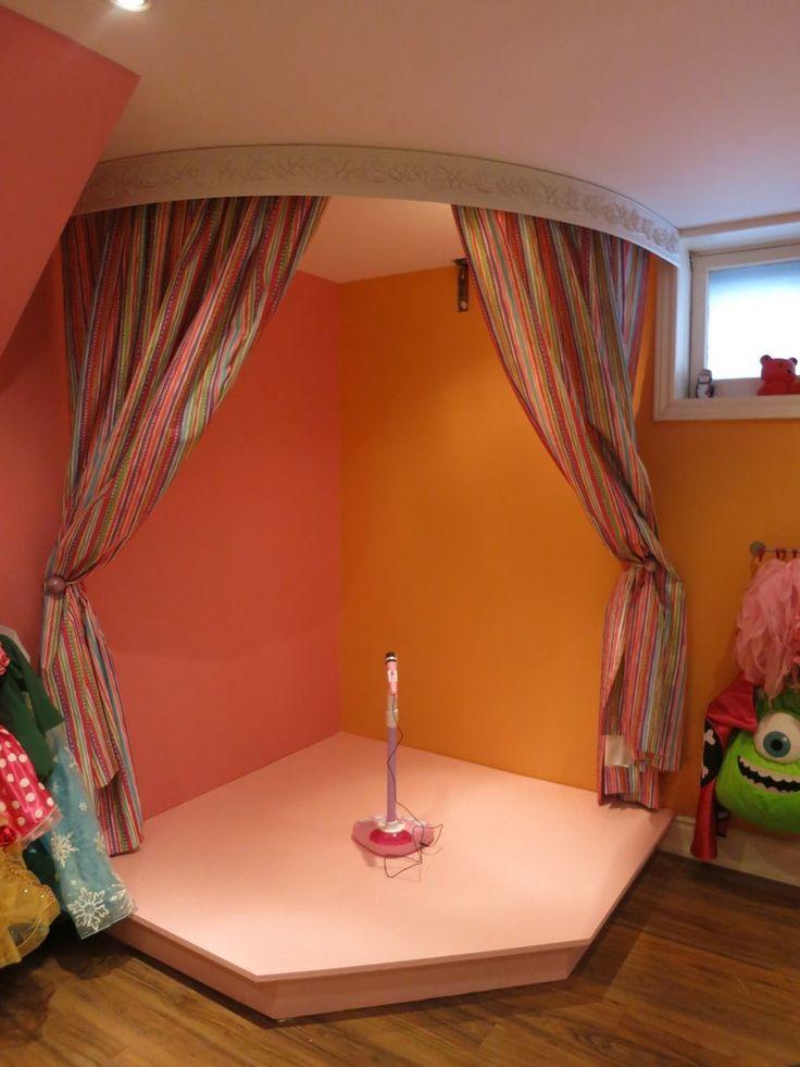 Kids Corner Stage Rain Gutter Book Shelves Kids Playroom