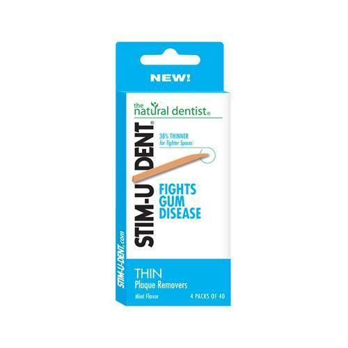 Natural Dentist Stim-u-dent Thin Plaque Removers (12 Pack) (160 Count) #TeethPlaqueRemoval