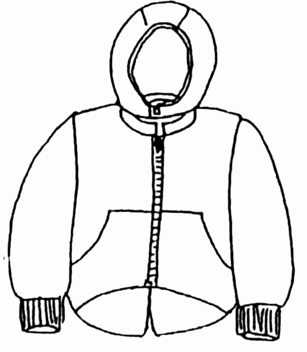 Winter Coat Coloring Page Beautiful Winter Coat Drawing At Getdrawings Coloring Pages Body Warmer Winter Outfits