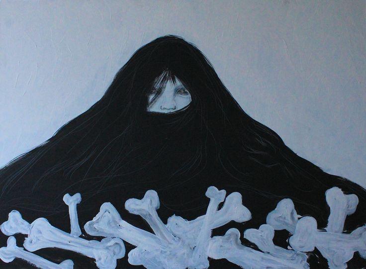Gushtyuk Julia acrylic on canvas Fear