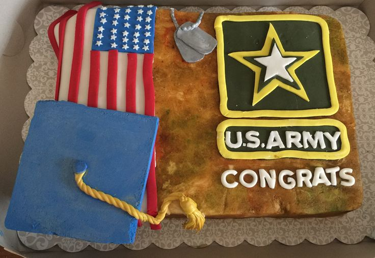 Army/graduation cake