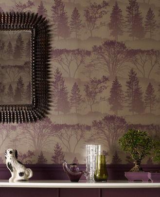 50-203 Graham & Brown Mirage Purple Motif Wallpaper