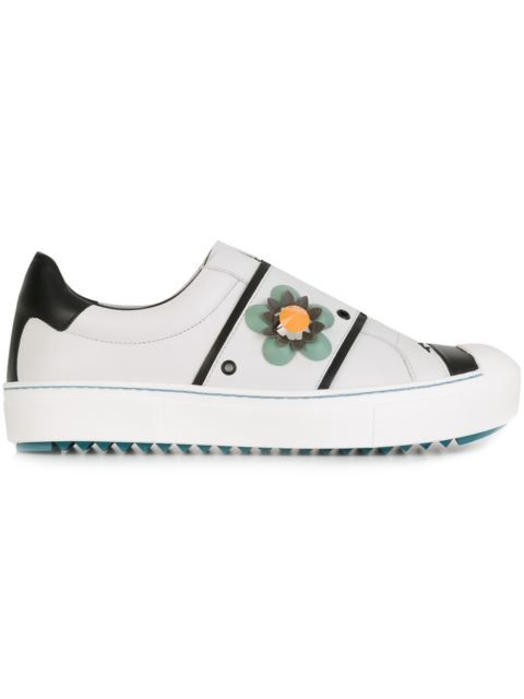 Coach flower embellished slip-on sneakers - White farfetch bianco Pagar Con Paypal zNcsSC3Pt
