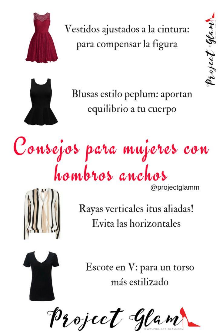 Consejos al vestir si tienes hombros anchos — Project Glam                                                                                                                                                                                 Más