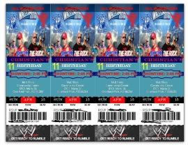 WWE Ticket Invitation - Front