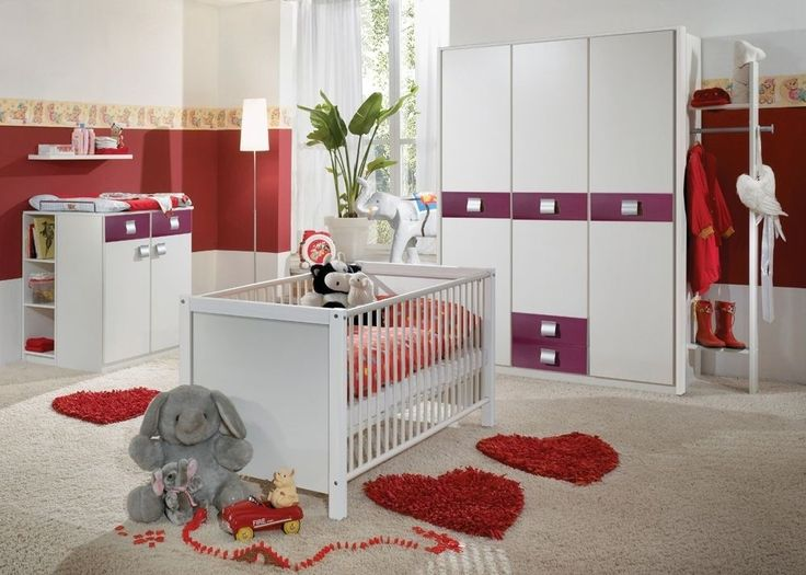 Simple Babyzimmer komplett Alpinwei mit Brombeer Buy now at https
