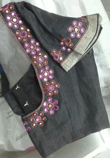 Black blouse with mirror work 91 9866583602 whatsapp no 7702919644