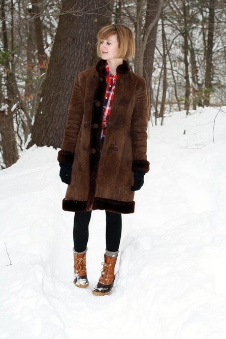 ll bean boots. and plaid. and fur!! this woman is a dream · Ll Bean Duck  BootsWinter ...