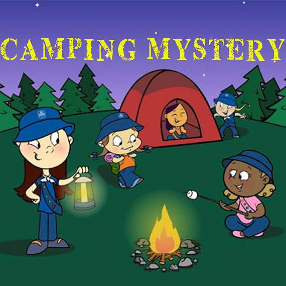 SALE ITEM Camping Mystery Game fun birthday by KidsMysteryGames