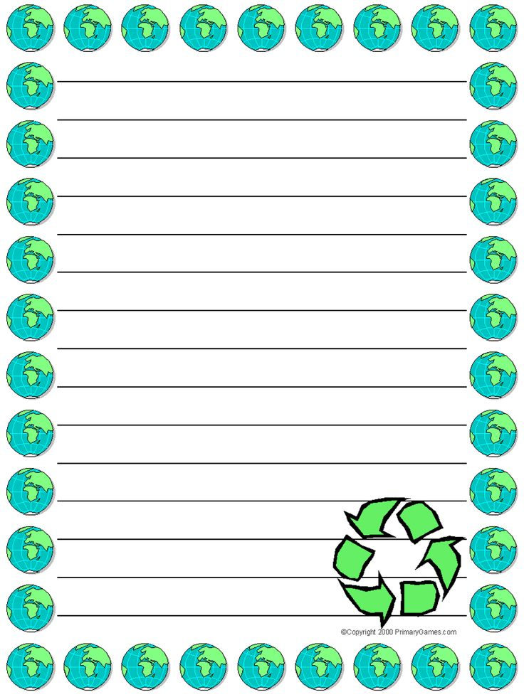 Free printable Earth Day stationery