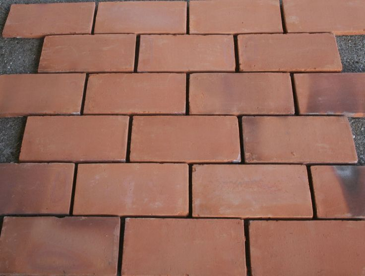 100 handmade terracotta floor tiles 30 x 15 cms for 15 floor on 100 floors