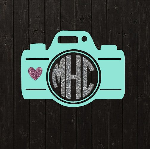 Hey, I found this really awesome Etsy listing at https://www.etsy.com/listing/472014448/camera-monogram-vinyl-decal