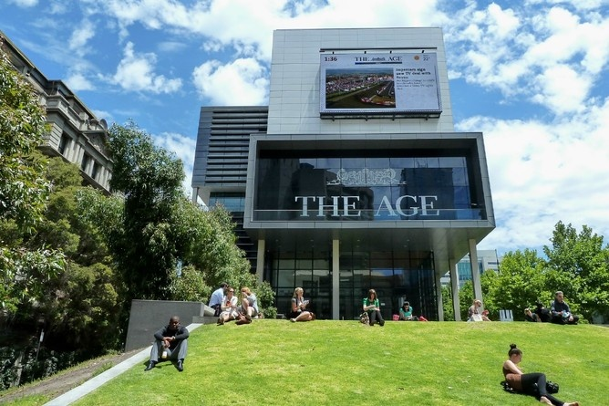 The Age newspaper head office in the Docklands precinct.