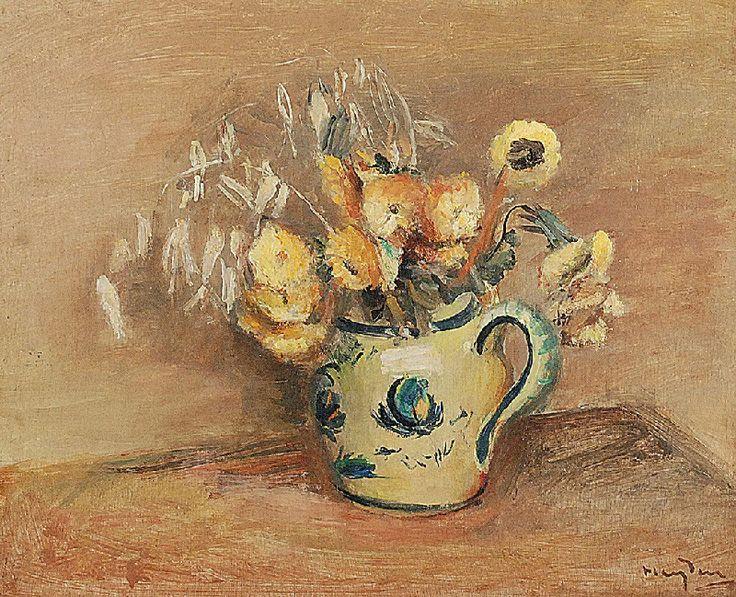 Henryk HAYDEN (1883-1970)  Les Fleurs Juane [Żółte kwiaty], 1927 olej, deska; 36,5 x 44,5 cm (w świetle oprawy);