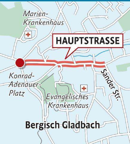 Obere Hauptstraße in Bergisch Gladbach: Sich fühlen wie Verwandte aus dem Osten ...