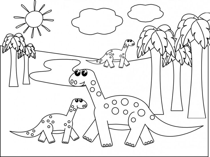 Free Coloring Pictures Of Dinosaurs : 104 best dinosaurs birthday images on pinterest
