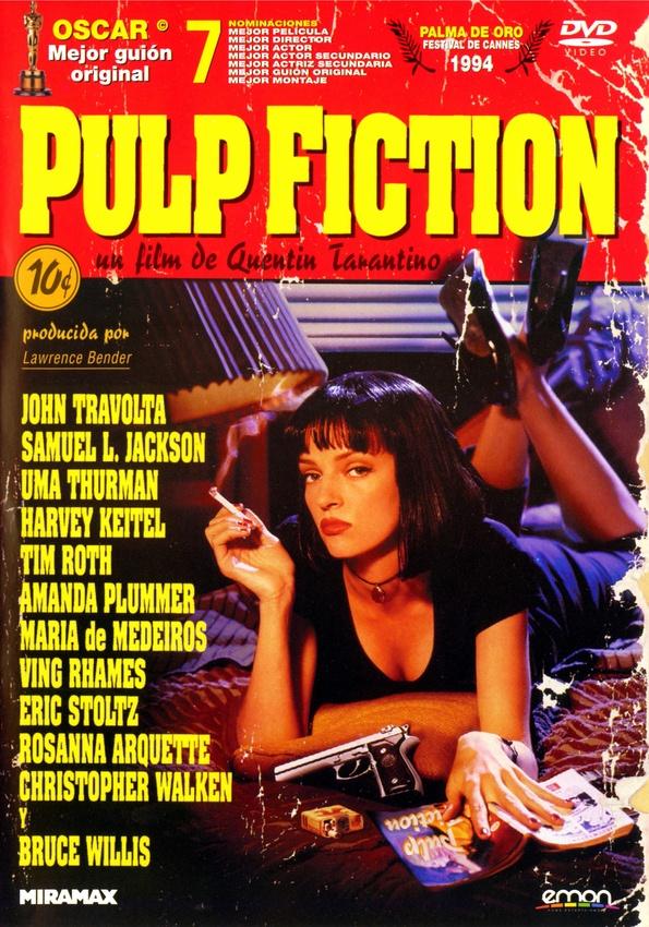Tarantino fascinó a crítica y público con este homenaje a la cultura pop que ya es todo un icono del cine independiente americano. Un thriller de acción en clave de comedia negra sobre los bajos fondos de la ciudad de Los Ángeles. Tres historias de delincuentes de poca monta envueltos en violencia espectacular e irónica.