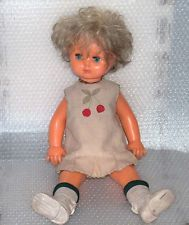 RARE VINTAGE PLASTIC DOLL, CLOSING EYES, USSR/RUSSIA, MARKED-MARCH 8-th FACTORY