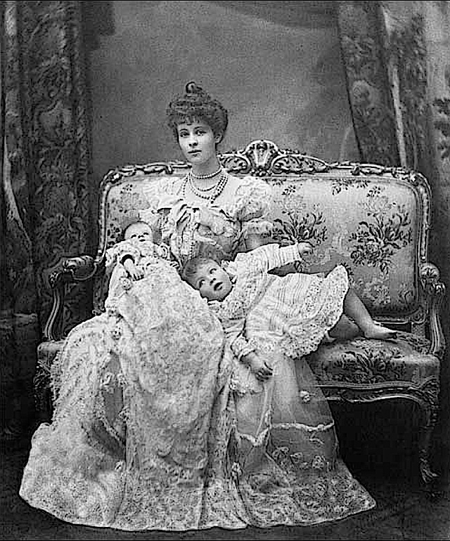1902 Consuelo Vanderbilt and sons, The Marquis of Blandford and Lord Ivor Spencer-Churchill