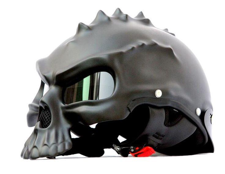 Chaude Punk Crâne Casque de Moto Moitié Casque Moto Capacetes Casco Rétro Casque CG489